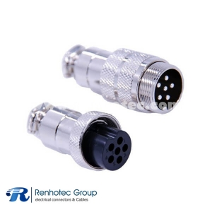 6 Pin Male Female connector Straight Male Female Docking Cable Plug