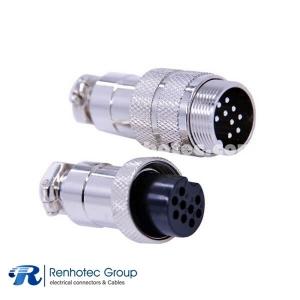 Circular Connector 9 Pin GX20 Male Female Waterproof Straight Plug