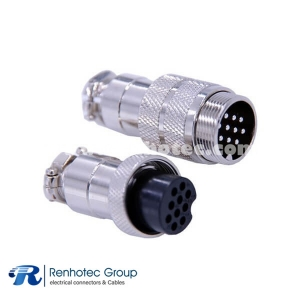10 Pin Male Female Connector GX20 Straight Male and Female Metal Thread Circular Connector