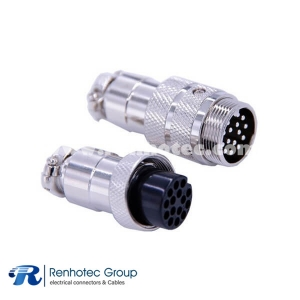 Waterproof Plugs and Sockets 15 Pin Aviation Connector GX20 Straight Male and Female Butt-joint Connector