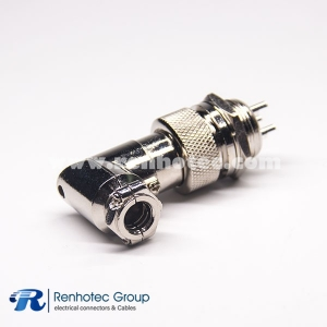 GX20 Connector 3 Pin 90 Degree Metal Male Socket Female Plug Aviation Wrie Connector