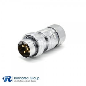3 Pin Straight Plug and GX20 Male Straight Aviation Connector