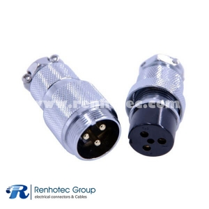 3 Pin Metal Circular Connector Docking Cable Straight GX25 Male Female Wiring Plug