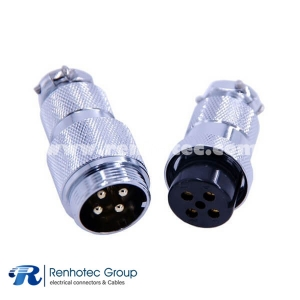 4 Pin Metal Aviation Connectors Plugs GX25 Male Female Docking Cable Straight Circular Aviation Connector