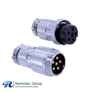 Butt Joint Connector GX25-6 Pin Straight Male Female Cable Connector for Cable