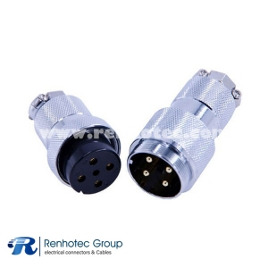 4 Pin Circular Connector Dia 30mm GX30 Straight Male Female Plug for Cable