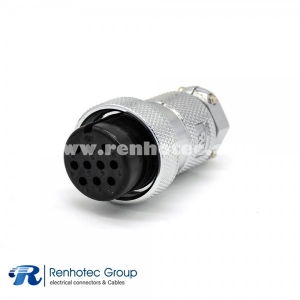 GX30 Aviation Plug 10 Pin Straight Female Connector for Cable Solder Type