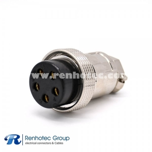 5 Pin Aviation Plug GX35 Standard type Straight Metal Female Cable Plug for Cable