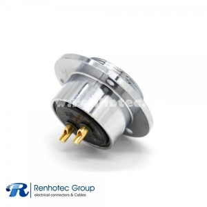 2 Pin Aviation Connector and GX40 3 Holes Flange Reveser Female Connector