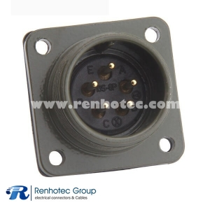 MS3102A16S-8P Straight Class A Size 16S 5 *16 Solder Socket Wire and Cable Circular MIL Spec Connector