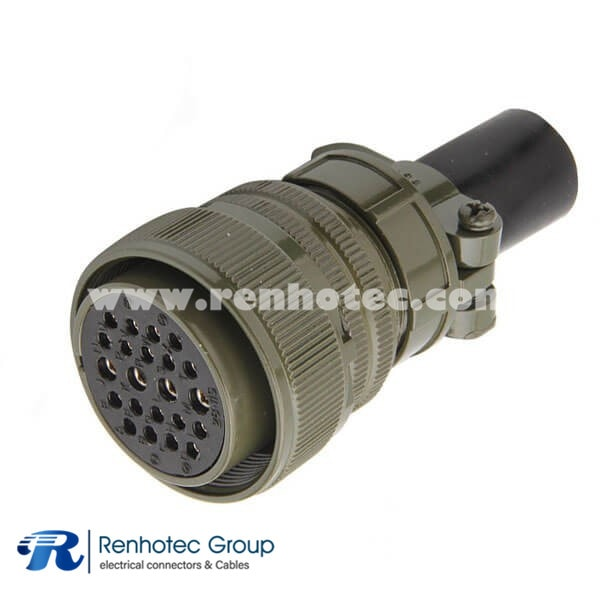 MS3106A28-12S Olive Drab Straight Plug Class A Size 28 26*16 Solder Socket Contact Connector