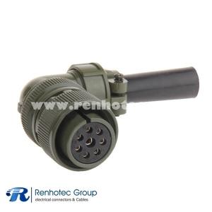 MS3108A20-7S Right Angle Plug Circular Cable Solder 8 Pin Female Plug