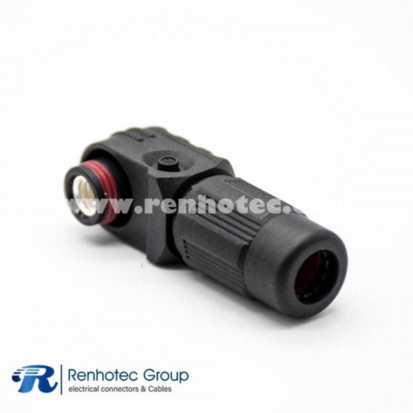Conector de almacenamiento de la batería Enchufe 6 mm Ángulo recto 1Pin 60A 100A 120A Engarzado 10 mm² / 16 mm² / 25 mm² Cable