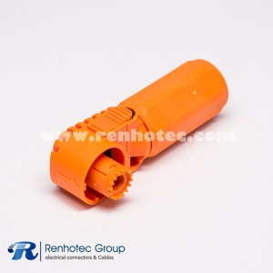 SurLok Plug Battery Storage Connector Right Angle Plug 1Pin 60A/100A/120A Crimp 6mm Contact IP67 Orange