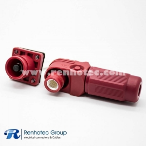 Energy Storage Connector 6/8/12MM 60A-350A 1Pin Plug&Socket  Busbar Lug Butt-Joint Red