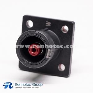 Battery Storage Connector Socket  Straight 1  Crimp 6mm/8mm Contact  Busbar Lug  IP67 Black