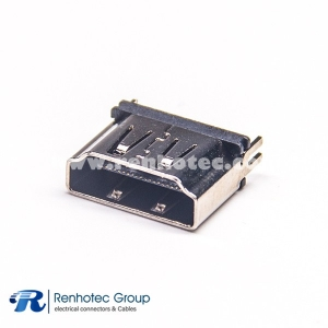 HDMI Female Connector Hole Through With 4 Legs PCB Type