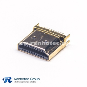 HDMI male connector DIP for PCB 19p Straight