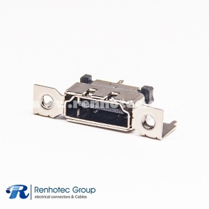 HDMI male connector 19p Straight DIP for PCB
